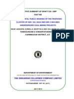 Sccl, Gdk Mines, Karimnagar Dist., Exe Sum Eng