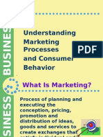 1. Understanding Marketing Processes and Consumer Behavior