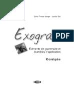 Grammaire. Exogram.debut. Corrigés