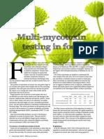 Multi-mycotoxin testing in food