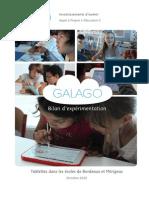 Galago - Bilan de l'expérimentation