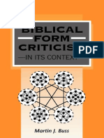 Martin Buss - Biblical Form Criticism in Its Context.