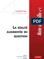 La réalité augmentée en question - note de veille Think Digital n°1