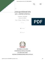 MOBING 2011 MORANA DIPENDENTE COMUNE DI ROSOLINI Sezione giurisdizionale Sicilia, sent. n