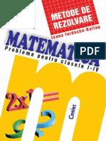 Matematica Metode de Rezolvare Probleme I-IV Baltag