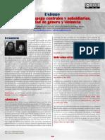 Figuras de Apego Centrales y Subsidiarias, Identidad de Genero y Violencia