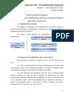 Unidade v - Da Posse - Acoes Possessorias Tipicas