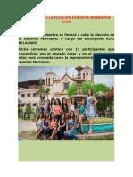 Candidatas a La Elección Señorita Morropón 2016