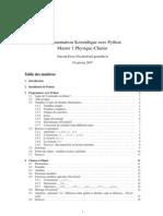 Programmation Scientifique avec Python