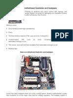 Remove motherboard heatsinks and heatpipes