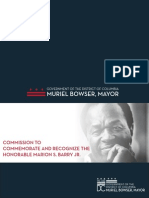 Marion Barry Recognition