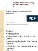 Explaining the Arab Democracy Deficit the Role Of