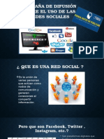 Campaña de Difusión Sobre El Uso de Las Redes Sociales