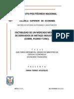 Factibilidad de un Mercado Mexicano de Metales Industriales