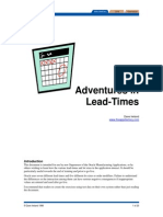 Adventures in Lead Times