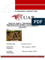 INFORMES DE VISITA DE CAMPO ( Sector 9)