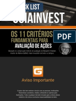 Checklist Analise Guiainvest