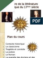 Histoire de La Littérature Classique Du 17ème siècleme Siècle