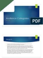 audience categories