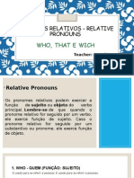Pronomes Relativos (Ingles)
