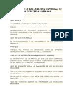 Análisis Simple de La Declaración Universal de Los Derechos Humanos