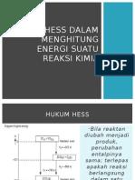 Hukum Hess Dalam Menghitung Energi Suatu Reaksi Kimia