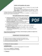 Formation Des Mots en Français