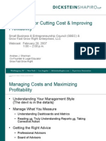PPT Cost Cutting for Growth and Profitability