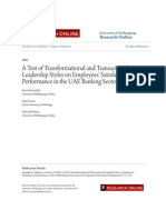 Transactional and Transformational Leadership and Employees' Satisfaction Plus BIBLIOGRAPHY