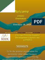 Orientation Presentation Feb 2010