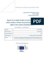 Report on in-depth studies of selected factors which enable or hinder the protection of human rights in the context of globalisation