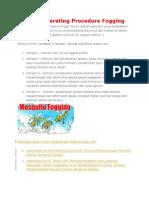 Standar Operating Procedure Fogging