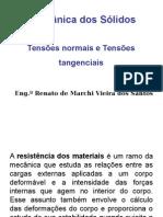Tensões Normais e Tensões Tangenciais