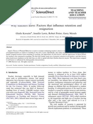 Roblox Attrition Dll Why Teachers Leave Survey Methodology Attitude Psychology