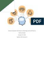 sensory lab report