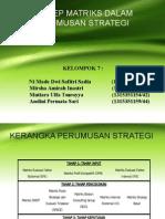 Konsep Matrik Dalam Kerangka Perumusan Strategi