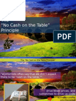 The No Cash on the Table Principle