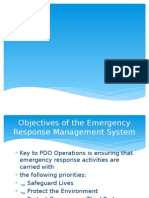Emergency responses in marine