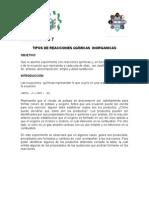 Practica Reacciones Quimicas, Mesa 1, Materiales