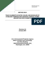Metodo EPA 200 Para Analisis Trazas en Absorcion Atomica