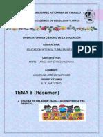 8. RESUMEN EDUCAR EN RELACION HACIA LA CONVIVENCIA Y EL RESPETO