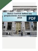 Proyección _macroeconomica _Chile 2016