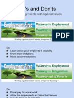 Do's and Don'ts,  Employing People with Special Needs