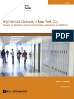 HighSchool Closures in NewYork City (Brief)