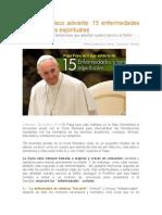 Papa Francisco Advierte