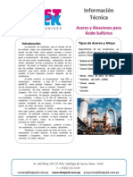 Aceros Aleados Para Acido-sulfurico