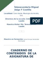 CUADERNO de CONTENIDOS Español Primer Grado Mas Vale Maña Que Fuerza