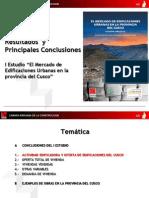 Resultados principales I Estudio el mercado de edificaciones en Cusco