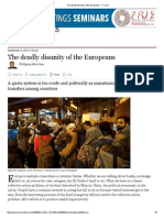 The Deadly Disunity of the Europeans - FT
