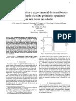 193 - Análise Numérica e Experimental de Transformadores Com Duplo Circuito Primário Operando Com Um Deles Em Aberto - Tractebel (28!10!2015)